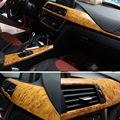 30 см * 1 м автомобильный Стайлинг интерьера дерево цвет автомобиля Наклейка литье пленка для Toyota Land Cruiser FJ100 LC100 аксессуары