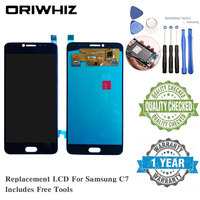 OLED Quality For Samsung C7 C8 C7010 LCD Screen Replacement Display Touch Screen Complete Digitizer with Repairing Tools