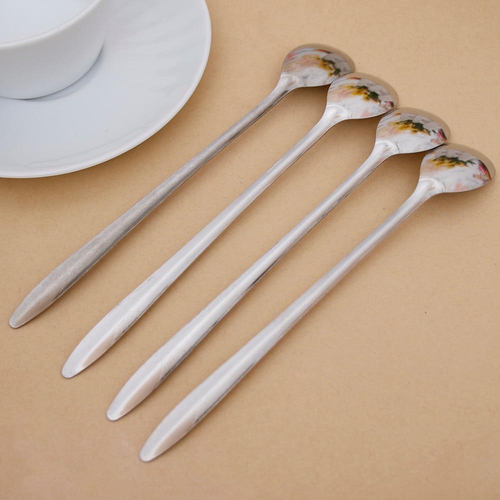 Hot Sale Multifunctionl Long Handled Stainless Steel Coffee Scoop Spoons Coffee Tea Scoop Ground Coffee Spoon Coffee Accessories
