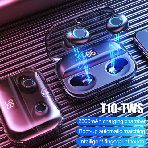 Bluetooth V5.0 Earphones TWS Wireless Bluetooth Earphone 8D Stereo Wireless Headphones Sport Earbuds Headset 2500mAh Power Bank Pakistan