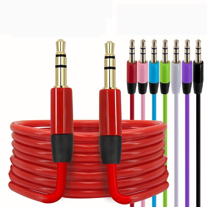 53.59руб. 20% СКИДКА|3,5 мм до 3,5 мм аудио кабель вспомогательный Aux папа папа стерео шнур аудио адаптер провод для ПК iPod MP3 автомобиль в подарок|  - AliExpress