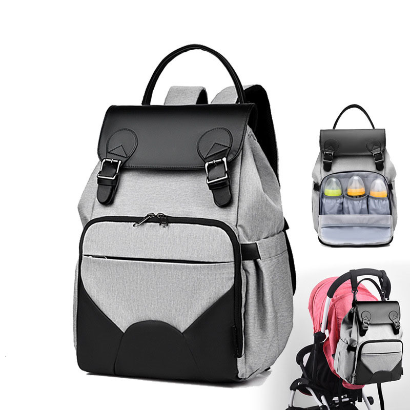 Diaper Bag Backpack Mummy Maternity Nappy Bag Large Capacity Waterptoof Diaper Bag Stroller Leather Shoulder Baby Care Bags