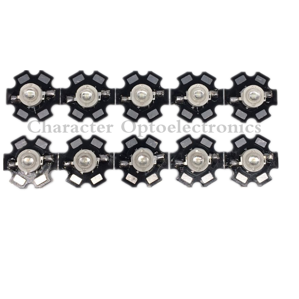 100pcs 3W <font><b>490nm</b></font> - 495nm Cyan Color High Power <font><b>LED</b></font> Light Emitter Diode on 20mm Star PCB image