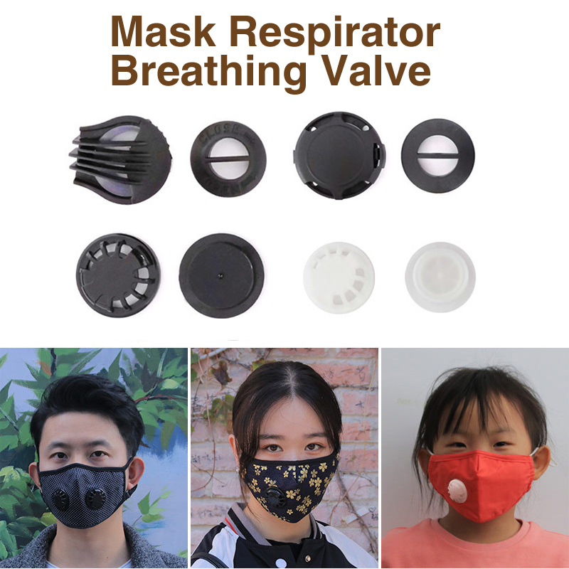 5pcs Air Breathing Valve For Face Mouth Mask Respirator Accessories Cycling Masks  Replacement For Kids Adult Respirator