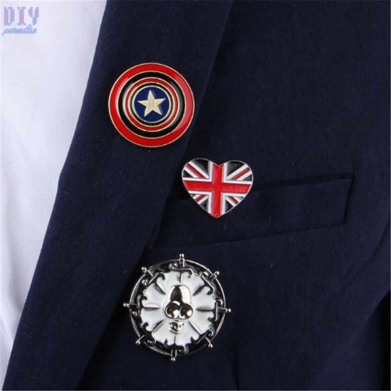 ห่วงโซ่ทหารป้ายโลหะFive Star Flags Queen Crown Retro Shoulder Boardป้ายกองทัพพินเข็มกลัดเหรียญ
