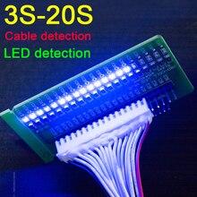 3S  17S ליתיום סוללת ליתיום הגנת לוח קו Tester LED זיהוי 4S 5S 6s 7s 8s 9s 10s 11s 12s 13s 14s 15s 16s תאים