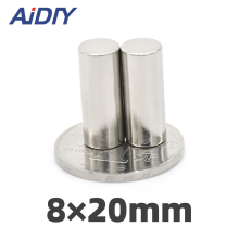 AIDIY 5/20/lot pcs 8mm X 20mm round strong  neodymium magnet N35 Mini small magnets disc 8*20mm