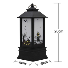 Pumpkin Lamp Hanging Lantern Halloween LED Light Party Witch Spider Home Decor Bat Garden Grim Reaper