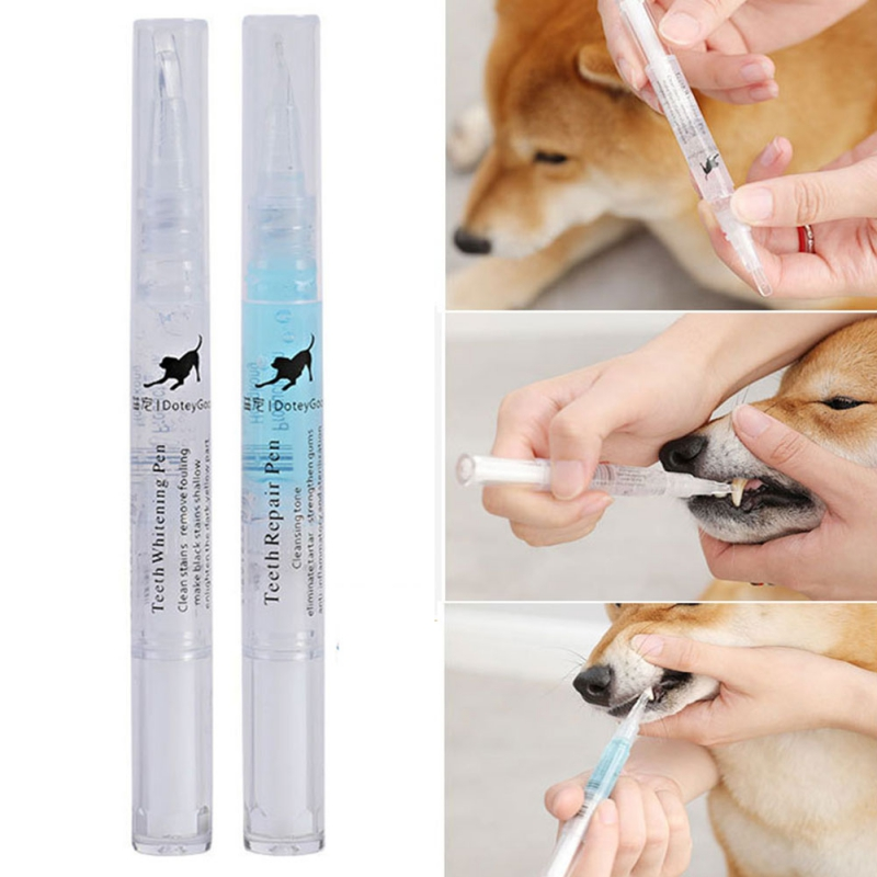 5ml Pets Teeth Cleaning Tool Dogs Cats Tartar Remover Dental Stones Scraper Plastic Cleaning Pen Cleaning Tools Steel Tool