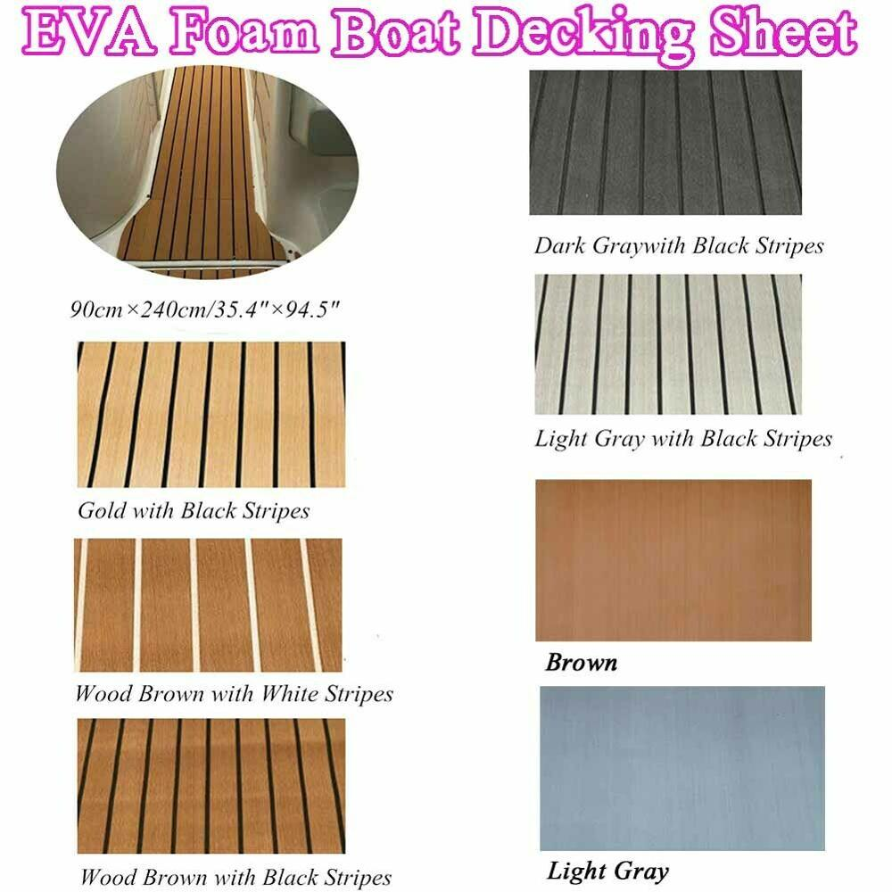 Steering Deluxe Marine Faux Flooring For Sheet Boat Styling EVA Teak Decking Sheet Foam Boat Accessories Decking Sheet Mat