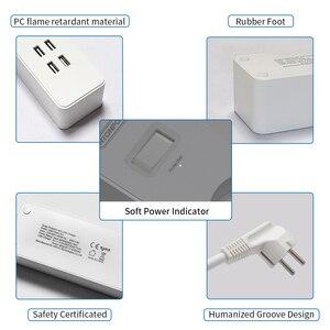 Image 4 - Ntonpowerネットワークフィルタースマート電源ストリップeuプラグ4000ワットサージプロテクターのためのホームオフィス2.5mコード延長ソケット