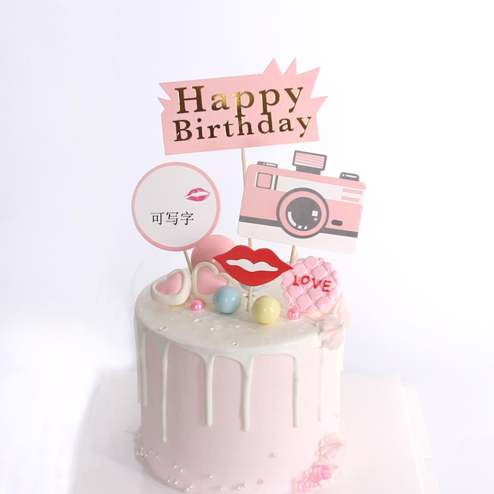 Incredible Cakelove 1Set Camera Happy Birthday Cake Decoration Camera Theme Funny Birthday Cards Online Barepcheapnameinfo