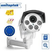 1080P 2MP kamera PTZ na świeżym powietrzu 10X Zoom optyczny 3G 4G kamera na kartę SIM CCTV P2P CamHi Max 128G karta Micro SD do przechowywania
