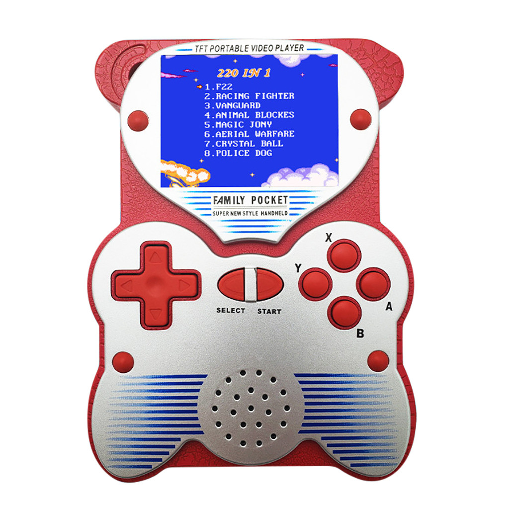 Retro Game Handheld Games Console Player 2.5 inch Screen Panda Game Console Support Night Mode Built-in 220 games   904#2