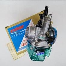 Carburador da motocicleta para keihin koso oko jato de alimentação pwk carburador para 28 30 32 34 mm 2t 4t azul transparente capa tigela