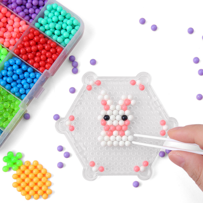 13500Pcs 30 Colors Beads Puzzle Crystal Color DIY Beads Water Spray Set Ball Games 3D Handmade Magic Toys For Children Girl Gift