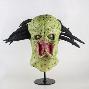 Maska jokera film batman mroczny rycerz klaun z horroru Cosplay maski lateksowe z z zielonymi wąsami peruka kostium na halloween akcesoria