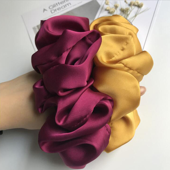 Oversized Scrunchies Big Rubber Hair Ties Elastic Hair Bands Girs Ponytail Holder Smooth Satin Scrunchie Women Hair Accessories 4