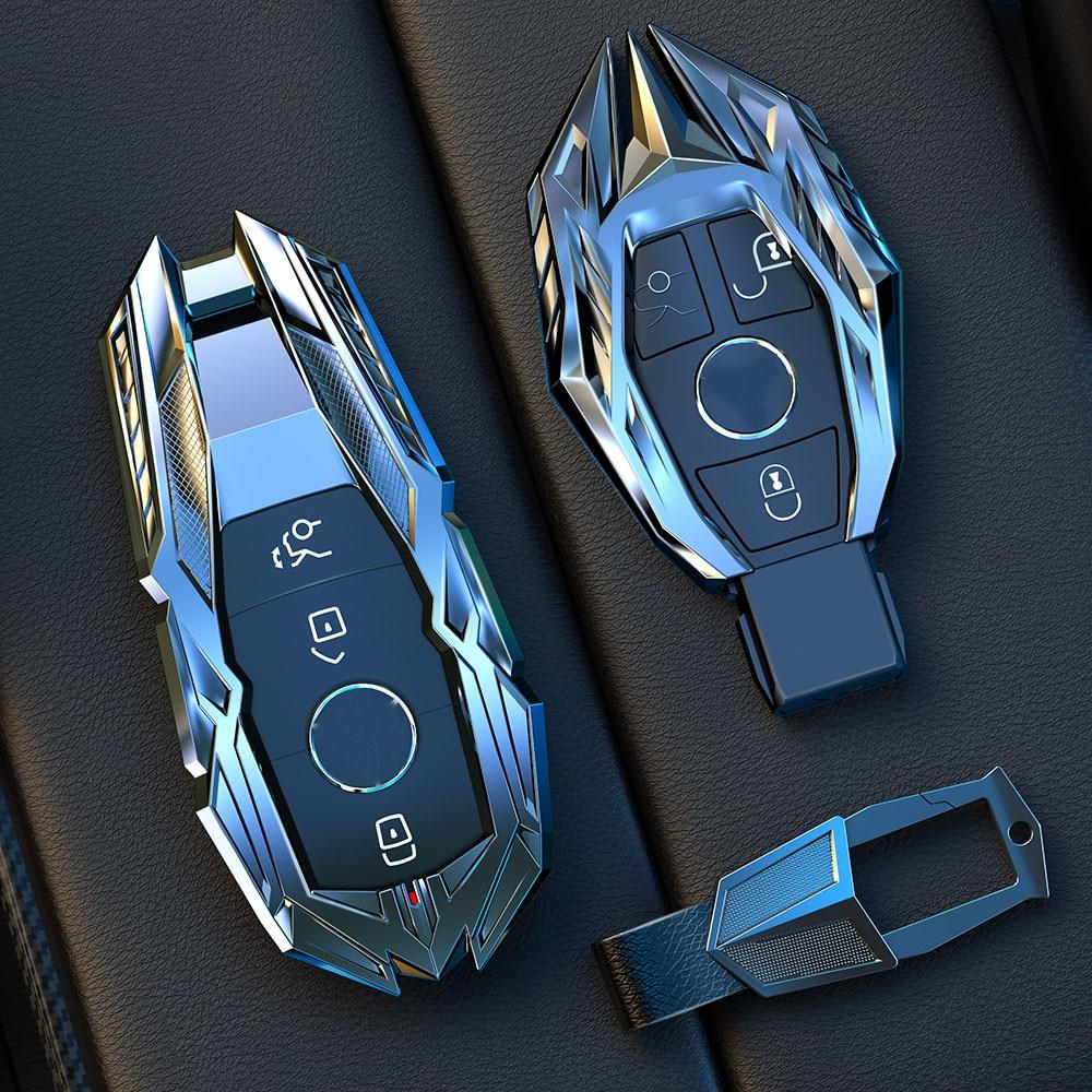 Zinc Alloy Car Accessories Car Key Fob Case Cover Protector Suitable For Mercedes Benz E C Class W204 W212 W176 GLC CLA GLA