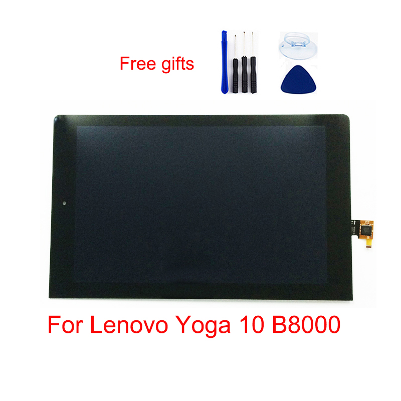 Black For Lenovo Yoga 10 <font><b>B8000</b></font> <font><b>B8000</b></font>-H 60047 LCD Display Monitor + Touch Screen Digitizer Sensor Panel Glass Assembly image
