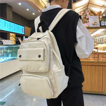Simple Classic Designe Nylon Women Backpack School Student Book Bag Leisure Travel Young Backbags for school girls boys 2020
