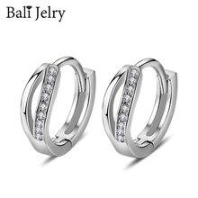 925-Silver Jewelry Gemstone Earrings Charm Zircon Wedding-Engagement Women Bali for Accessories