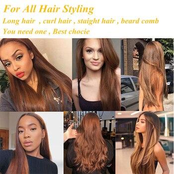 Hot Straightening Heat Pressing Comb Ceramic Curling Flat Iron Curler Designed Hair Straightener for Natural Black Hair Wigs 6