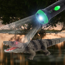 Simulation Remote Control Crocodile Toy Animal Can Crawl Straight Child Electric Creative Flashligh