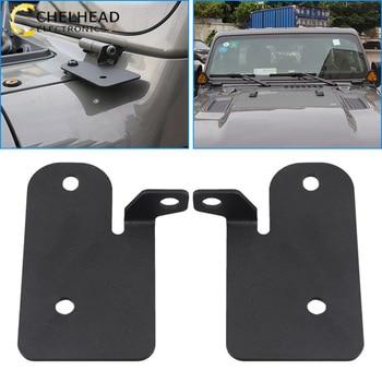 for Jeep Wrangler JL Accessories Holder for Led Car Lights Windshield Hinge Led Work Light Bracket Mount Mounting