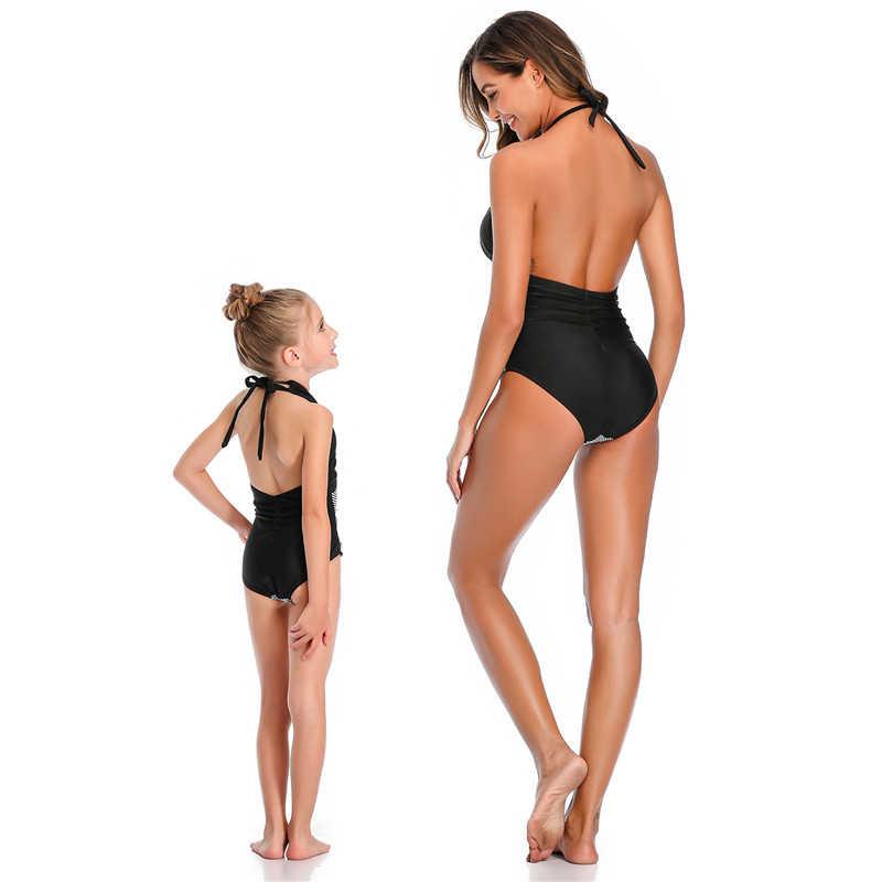가족 일치하는 수영복 엄마와 나 옷 엄마 딸 수영복 원피스 여자 여자 수영복 수영복 비키니 메이요