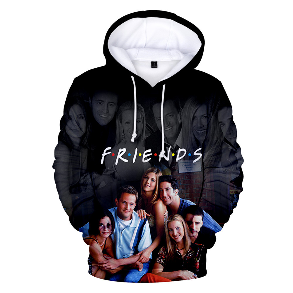 FRIENDS 3D Printed Hoodies Women/Men TV Show I'll Be There For You Hoodie Sweatshirt Fashion Fleece Warm Jacket Coat 4XL Clothes