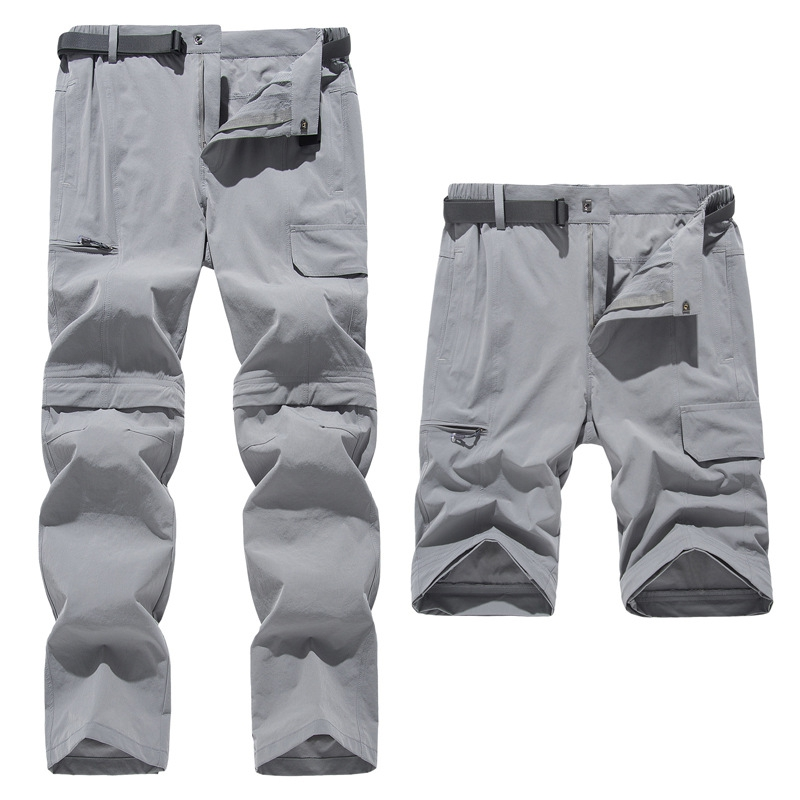 Outdoor Men Quick Dry Pants Removable Stretch Hiking Pants Summer Breathable Camping Hunting Climbing Trekking Pants 2020 New