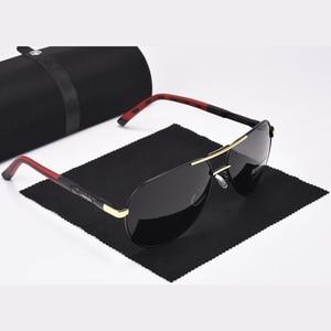 Image 2 - Aoron Gepolariseerde Zonnebril Heren Klassieke Zonnebril UV400 Coating Lens Aluminium Frame Rijden Brillen Voor Mannen