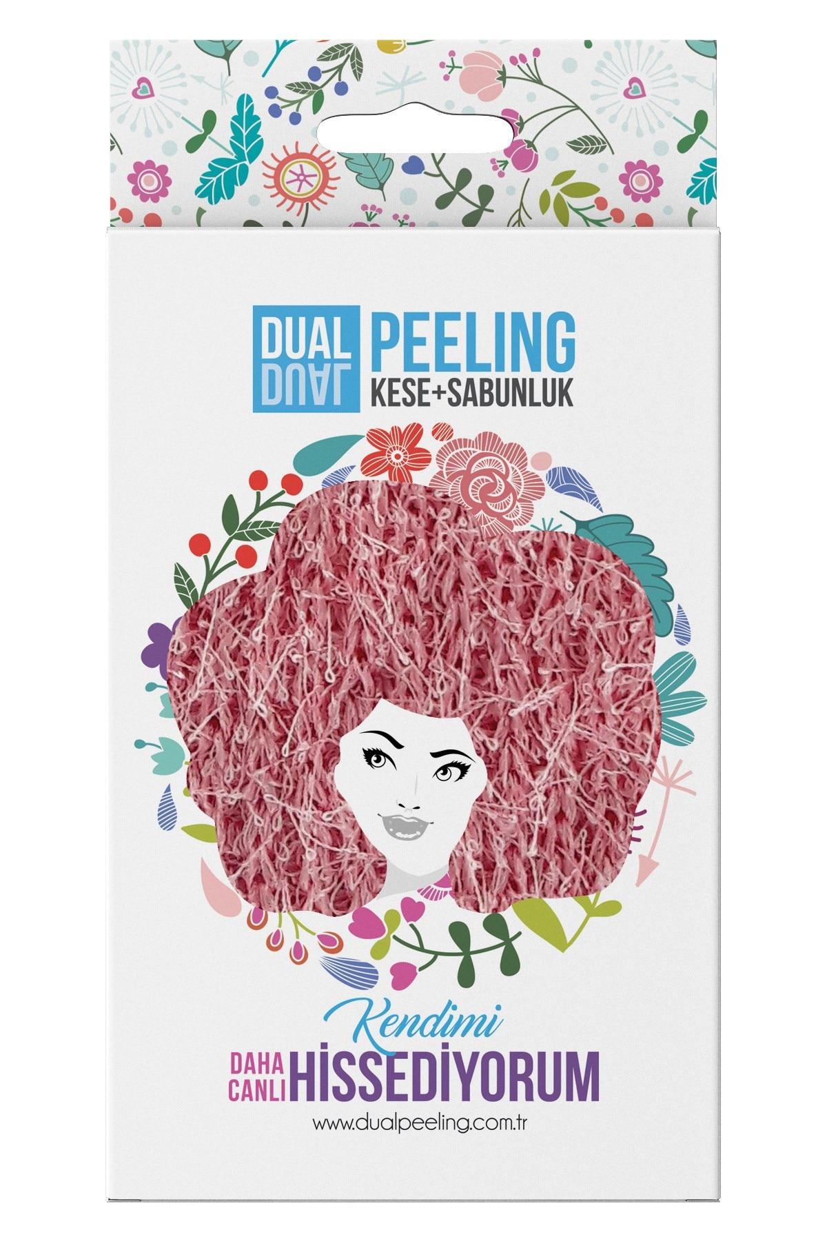 Dual Peeling Exfoliating Bath Mitt 100 Floss + Soap Glove 100 Polyester