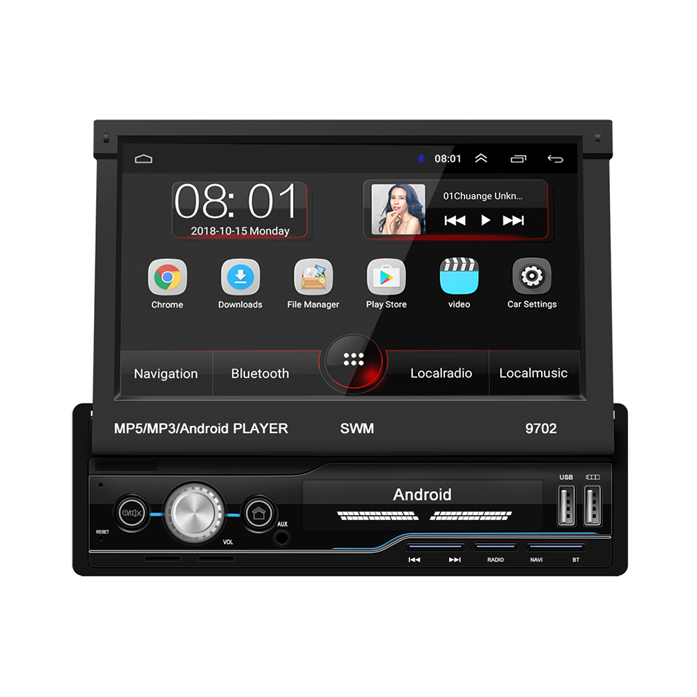 7 Inch Auto Radio Android 8.1 Gps Navigatie Wifi Usb Opladen 1 Din Hd Touch Screen Auto MP5 Speler - 2