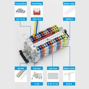 Image 4 - DIN Rail 10Pcs ST 2.5 3L ฤดูใบไม้ผลิ 3 ชั้นระดับตัวเชื่อมต่อสุทธิดึงประเภทสกรู ST2.5 3L