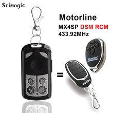 Garagem de controle remoto motorline mx4sp dsm rcm 433.92 mhz controle remoto 433mhz portão controle garagem comando chave fob