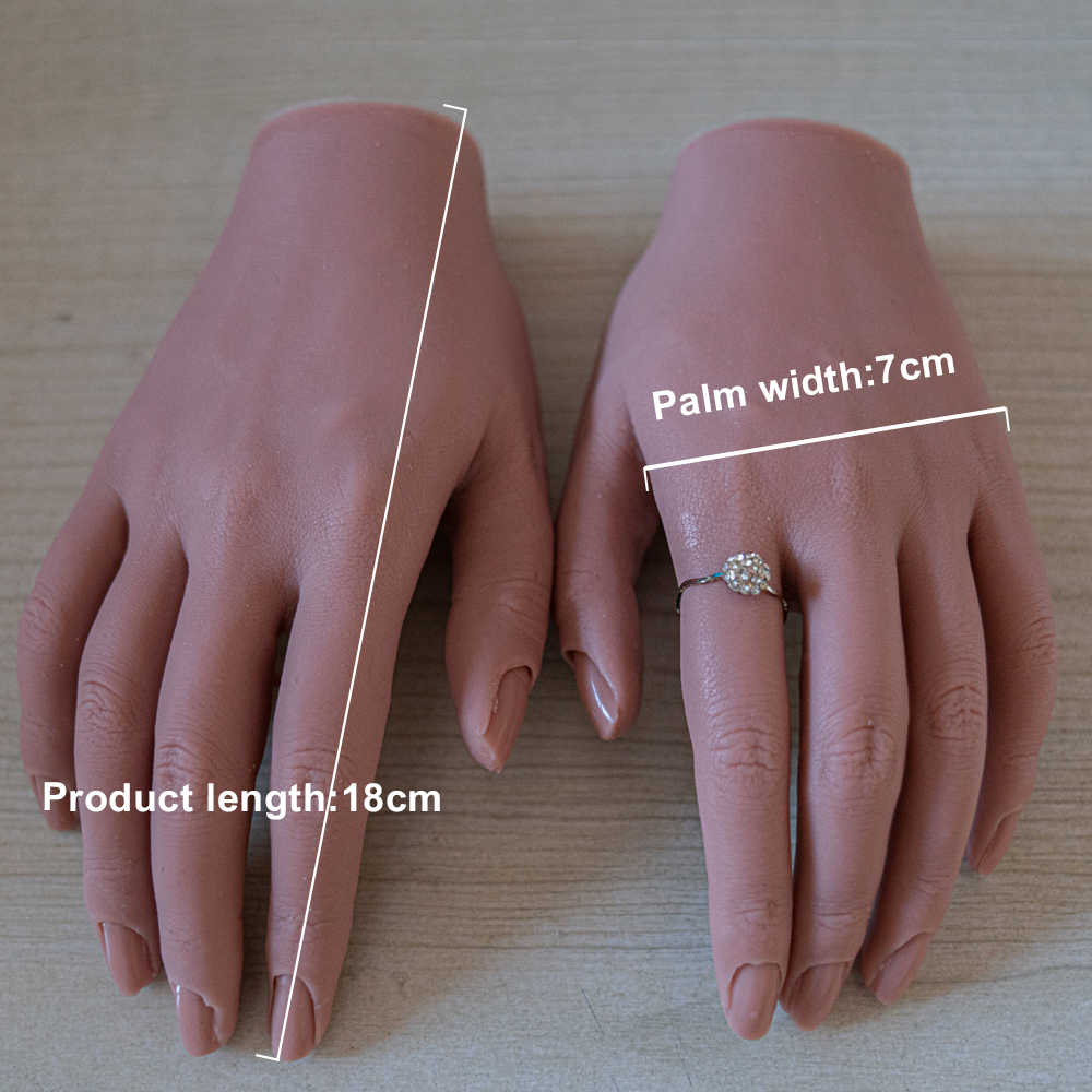 Maniquí Tgirl de práctica manual para adultos con ajuste de dedo Flexible, modelo de visualización de uñas movibles