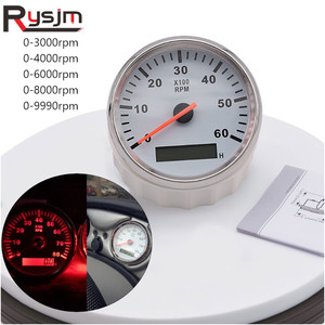Diesel Engine Tachometer Car Boat Marine Tacho Meter Gauge 6000 rpm 8000 rpm With Hour Meter fit for Peugeot for BMW for Ford(China)