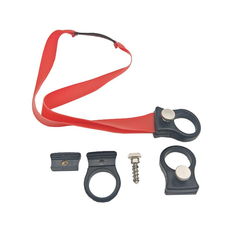 Slingshot Ring Hunting Catapult Stainless Steel Metal With Rubber Band Outdoor Shooting Powerful Finger Slingshots