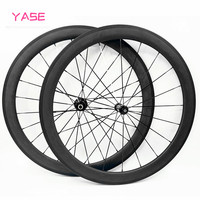 YASE chinese carbon wheels straight pull Powerway R39 700c road bike wheels wheelset 60x25mm clincher carbon wheel 700c wheelset