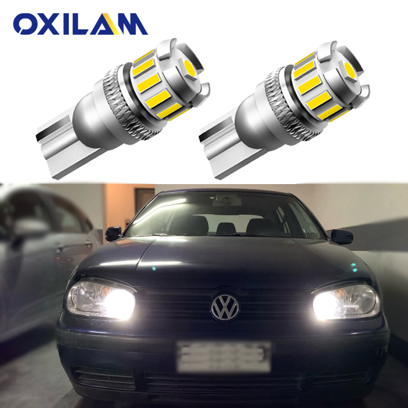 2x <font><b>LED</b></font> Lamp T10 W5W No Error Clearance Side <font><b>Light</b></font> for Volkswagen VW <font><b>Golf</b></font> 4 <font><b>5</b></font> 6 7 Scirocco Caddy City Phaeton EOS Sagitar Magotan image