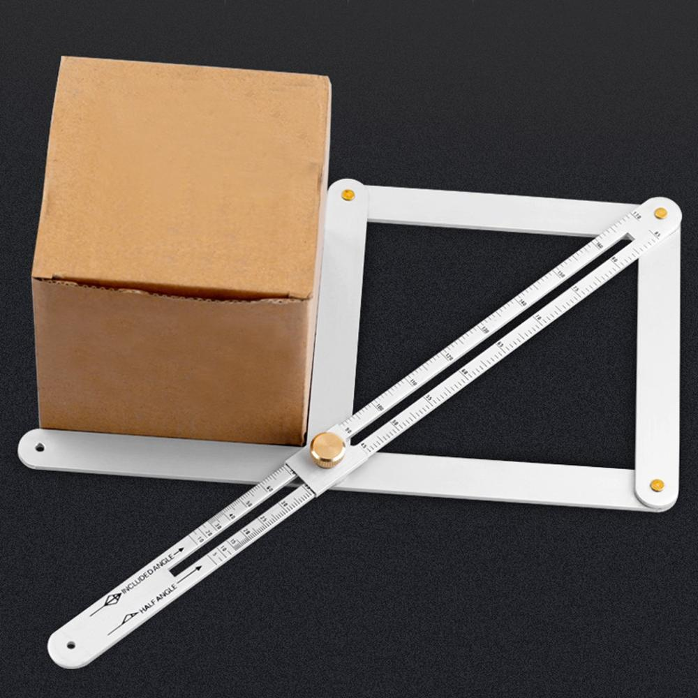 Professional DIY Multi-Angle Corner Angle Finder Stainless Steel Protractor Tile Wood Ruler Woodworking Model Craft Angle Square