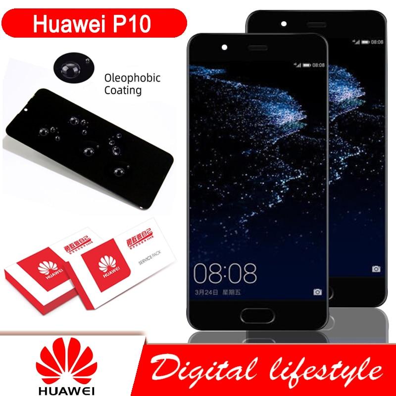 Оригинальный 5,1 ''ЖК дисплей с корпусом, запасные части для Huawei P10 ЖК-дисплей с сенсорным экраном дигитайзер в сборе VTR-L09 VTR-L10 VTR-L29