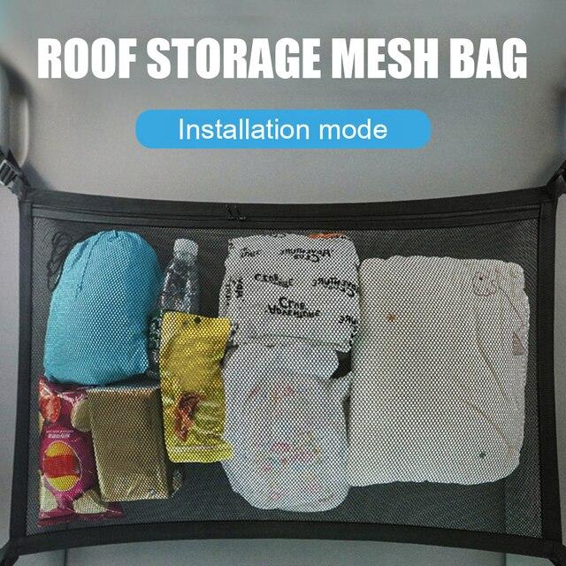 8kg car roof storage mesh bag interior cargo universal netbag