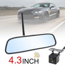 4.3 Inch HD Wireless Car Rearview Mirror Monitor Auto Parking System with Rear View Reverse Camera Built-in Antenna New цена в Москве и Питере