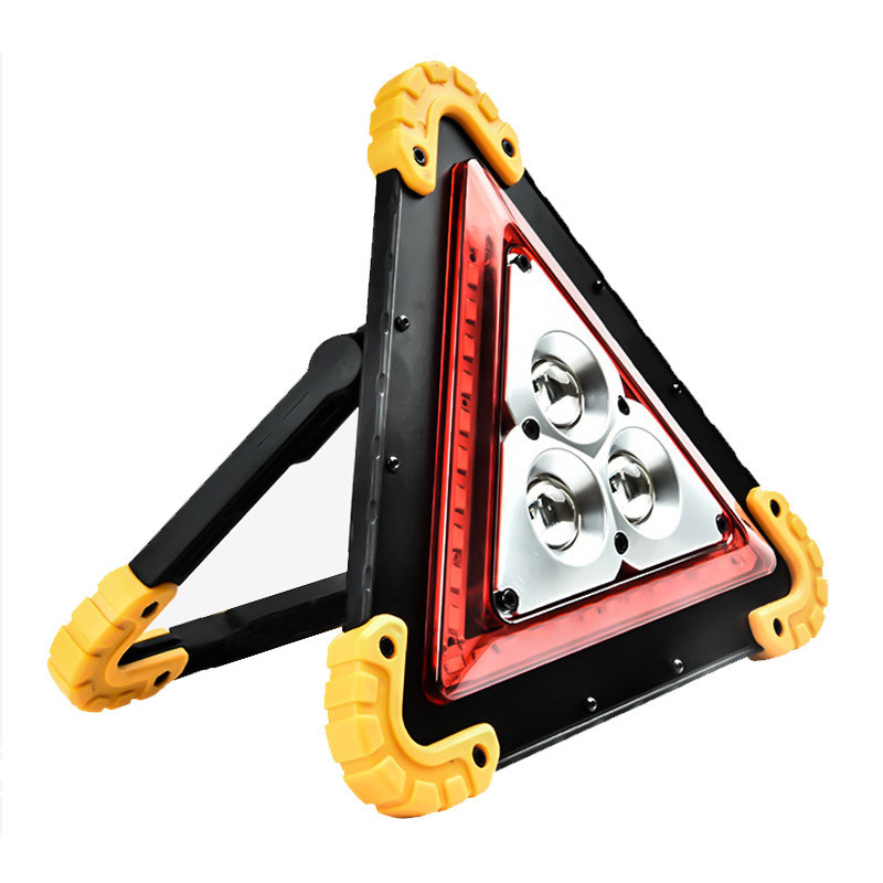 Multi-Function Car Carrier Belt LED Light Emergency Triangular Warning Sign Warning Rack