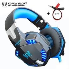 Fones de ouvido gamer bass pro, headset para celular xbox, computador, com microfone, baixo estéreo