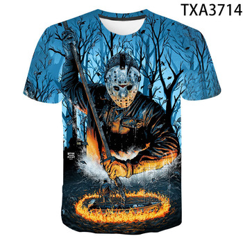 Jason Voorhees T Shirt Men Women 3D Print Horror Movie Friday the 13th Short Sleeve Casual Streetwear Boy Girl Cool Tops Tees printio jason voorhees