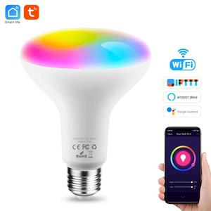 Image 1 - Tuya חכם אור הנורה E26 E27 Wifi Led אור RGB צבעוני Dimmable הנורה 220V 13W השכמה אור חכם הנורה מנורת Alexa חכם חיים